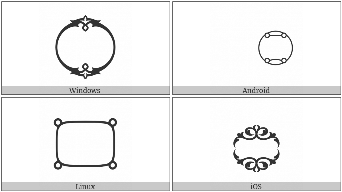 Arabic End Of Ayah on various operating systems