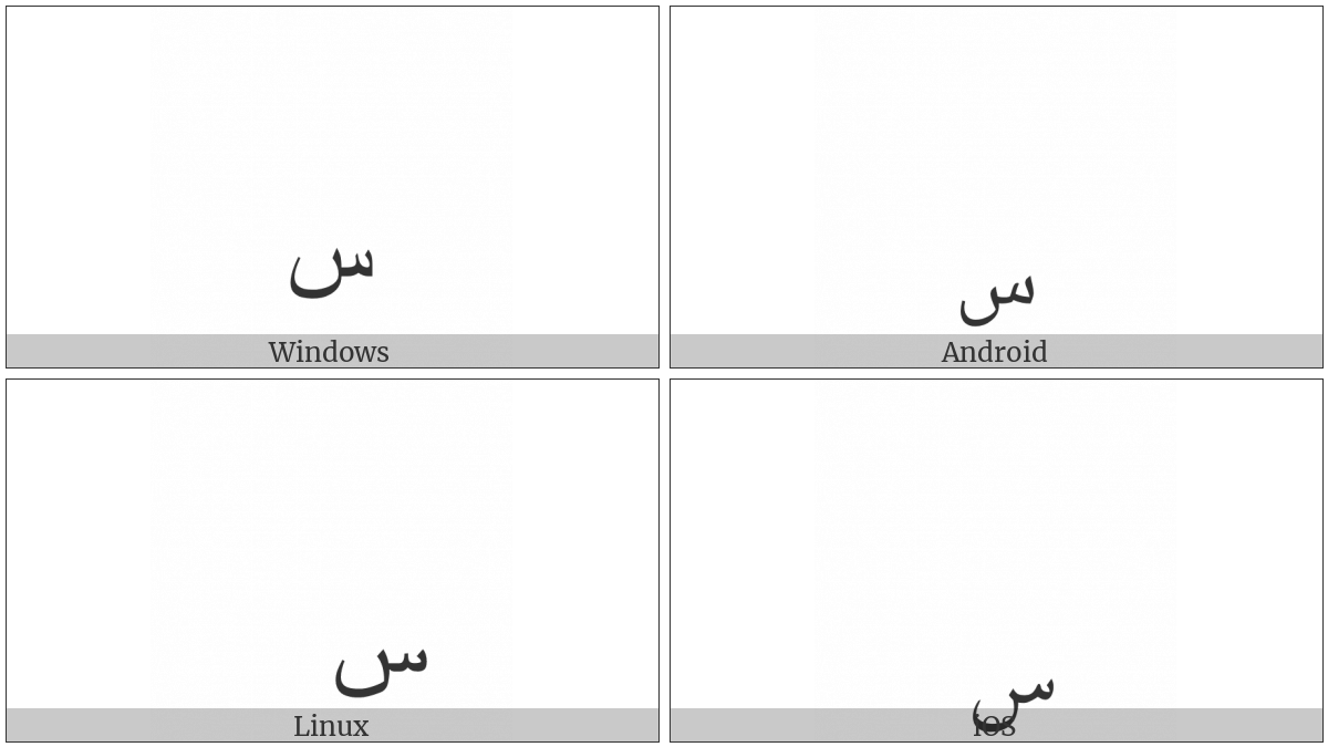 ARABIC SMALL LOW SEEN utf-8 character