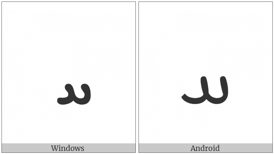 Syriac Letter Heth on various operating systems