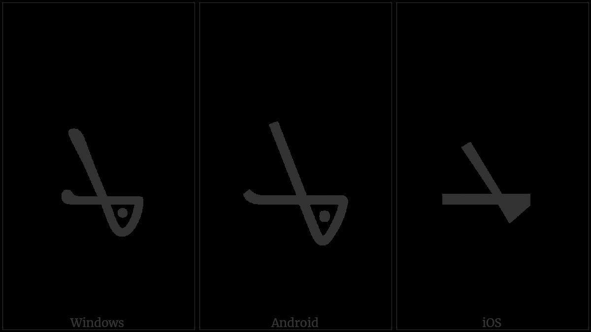 Syriac Letter Teth Garshuni on various operating systems