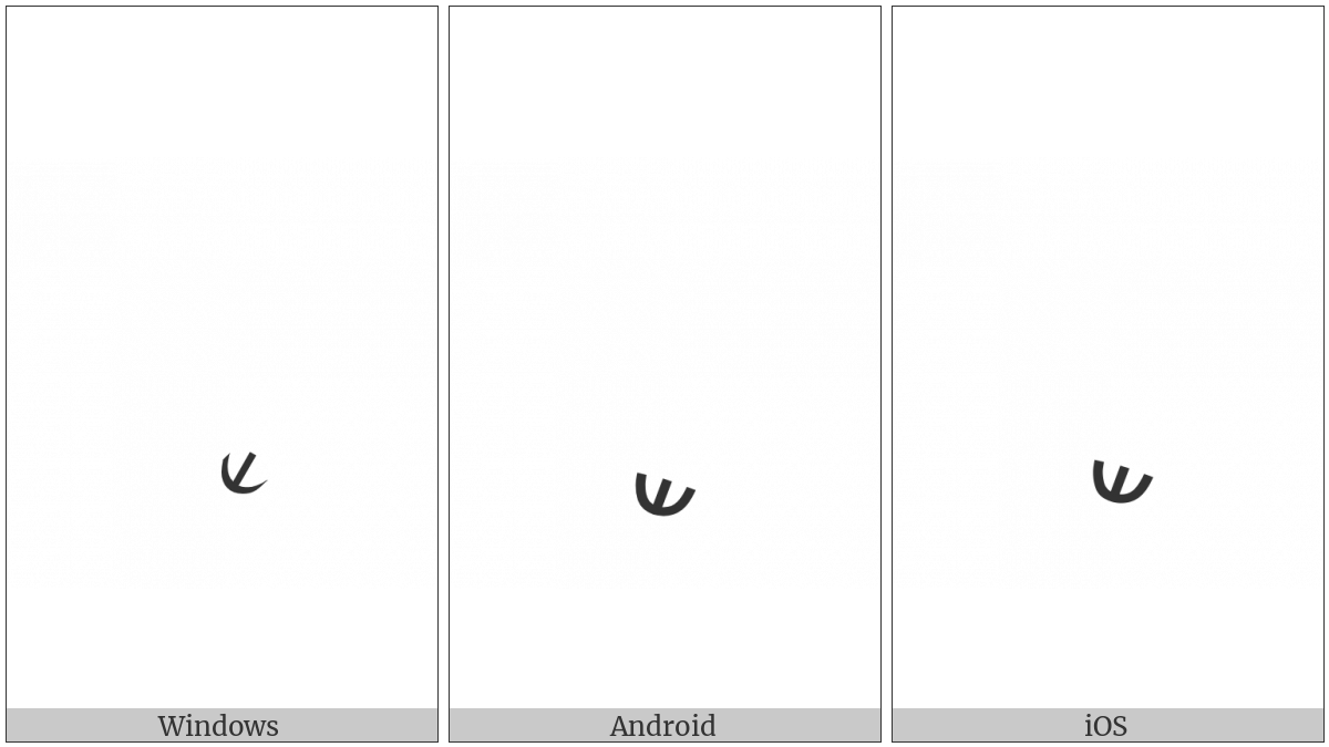 SYRIAC RBASA BELOW utf-8 character