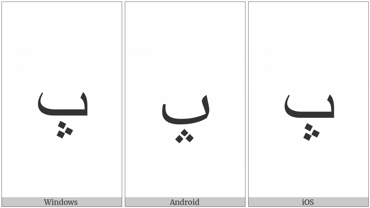 ARABIC LETTER BEH WITH THREE DOTS POINTING UPWARDS BELOW utf-8 character