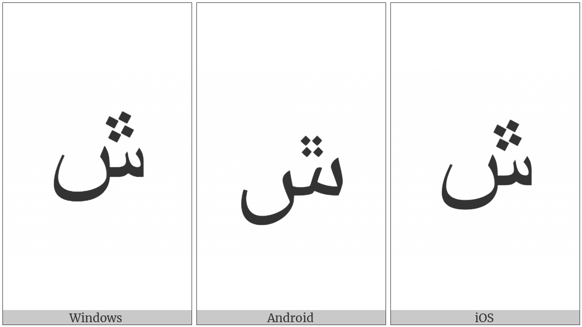 ARABIC LETTER SEEN WITH FOUR DOTS ABOVE utf-8 character