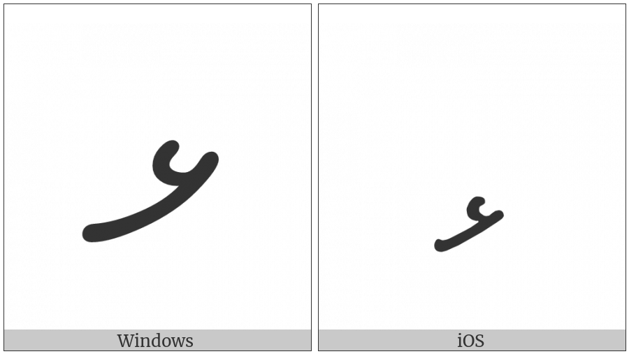 Thaana Letter Lhaviyani on various operating systems