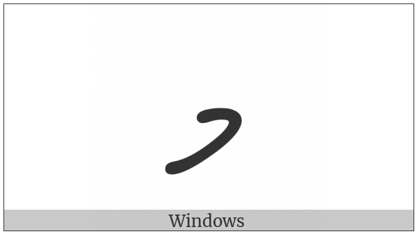 Thaana Letter Meemu on various operating systems