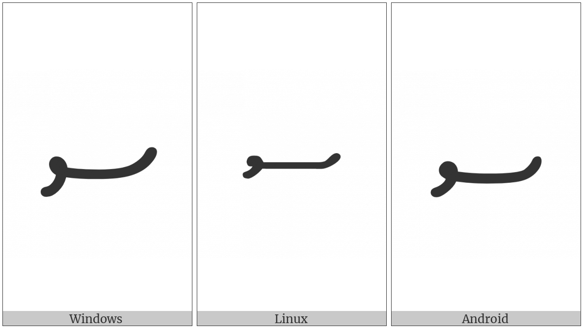 Thaana Letter Seenu on various operating systems