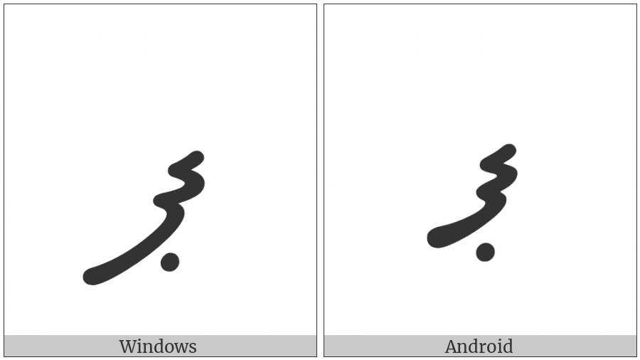Thaana Letter Paviyani on various operating systems