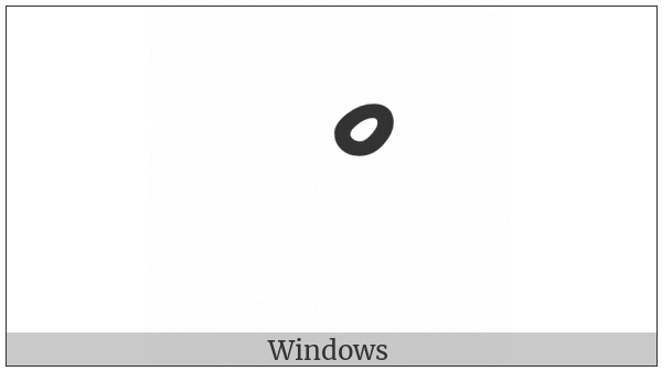 Thaana Sukun on various operating systems