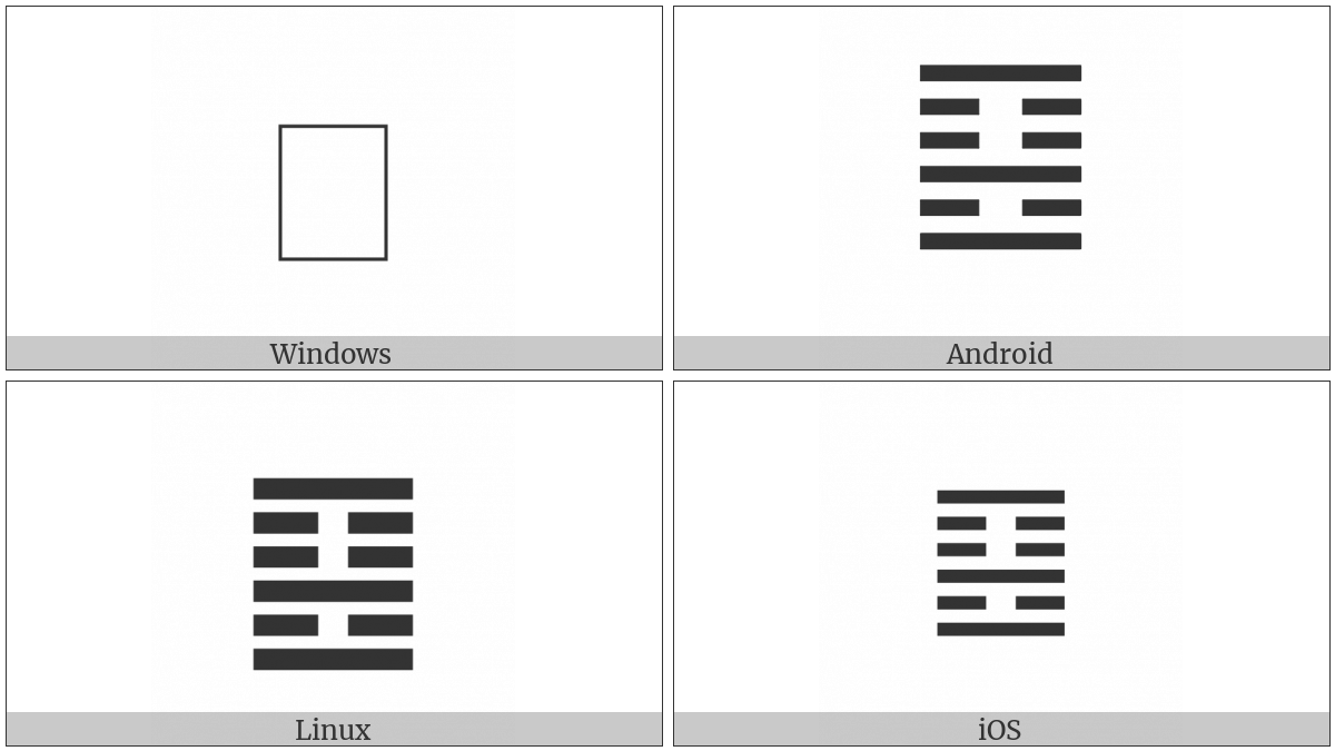 Hexagram For Grace on various operating systems