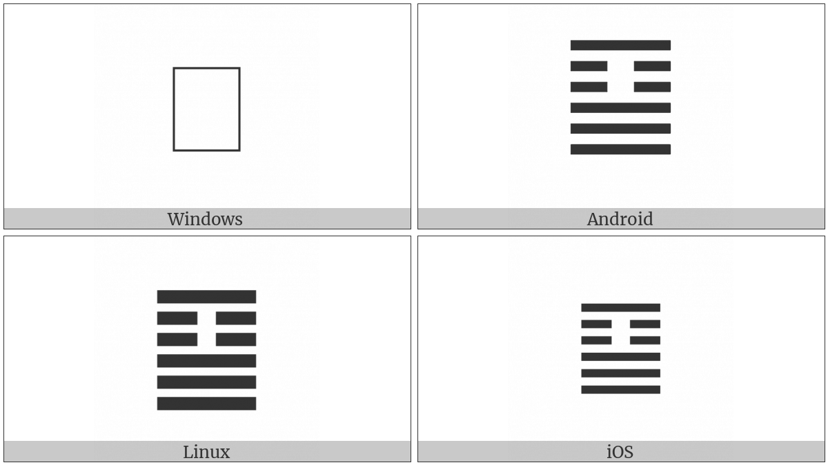 Hexagram For Great Taming on various operating systems