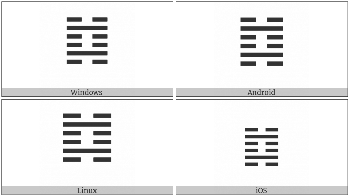Hexagram For The Abysmal Water on various operating systems