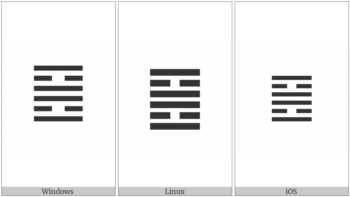 Hexagram For The Clinging Fire on various operating systems
