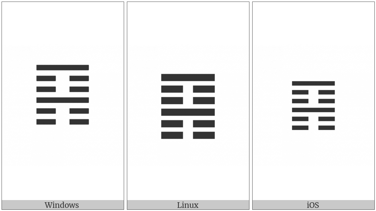 Hexagram For The Keeping Still Mountain on various operating systems