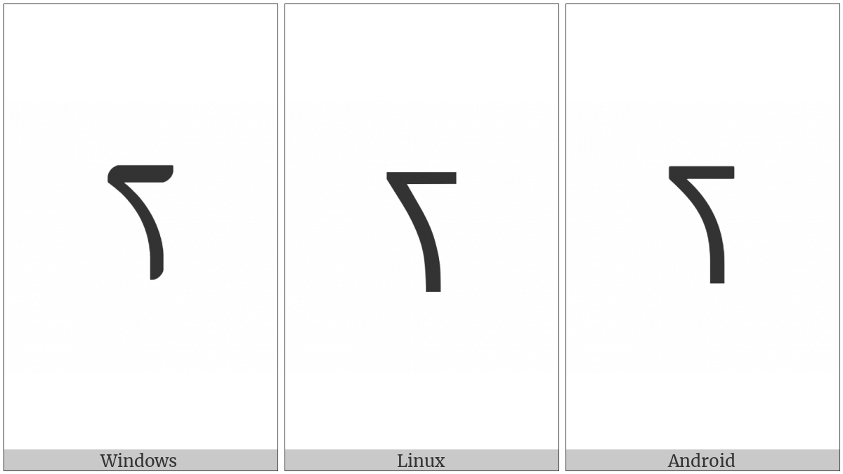 Nko Letter Ja on various operating systems