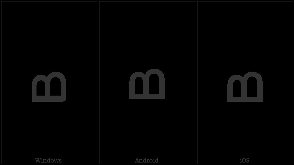 Nko Letter Da on various operating systems
