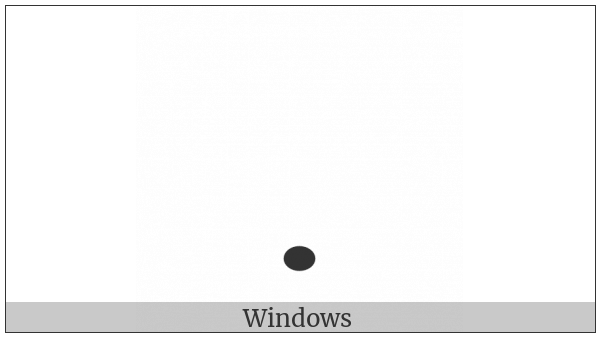 Nko Combining Nasalization Mark on various operating systems