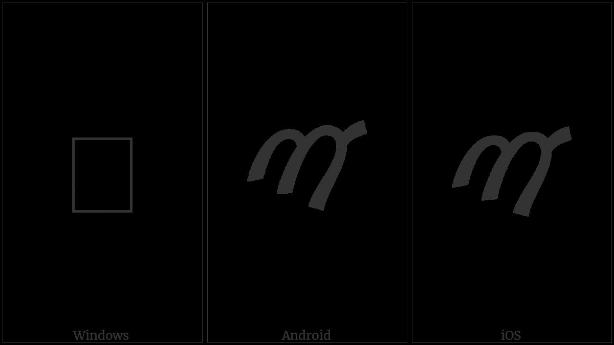 Samaritan Letter Yut on various operating systems