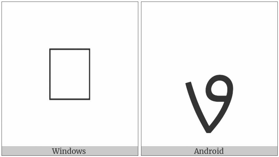 Mandaic Letter Ap on various operating systems