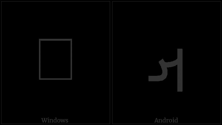 MANDAIC LETTER AT utf-8 character