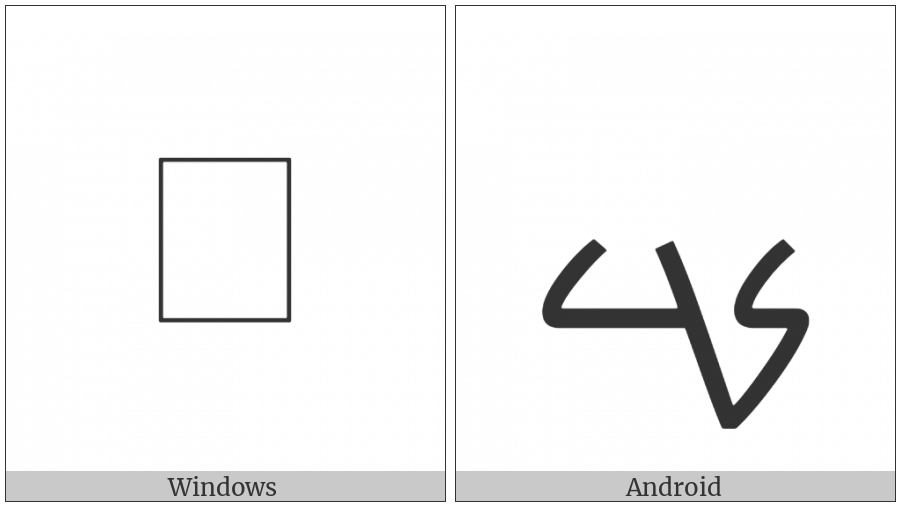 Mandaic Letter Kad on various operating systems