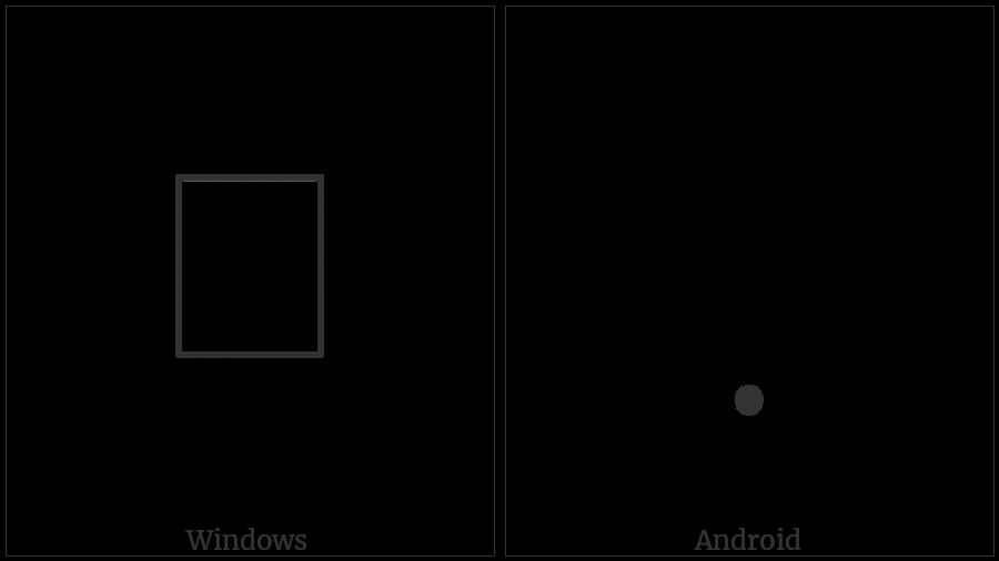 Mandaic Gemination Mark on various operating systems
