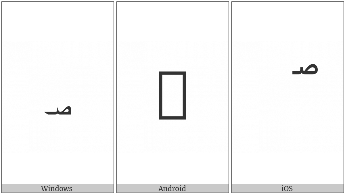 Arabic Small High Sign Safha on various operating systems
