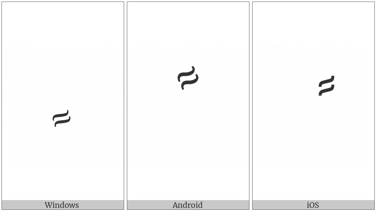 Arabic Curly Fathatan on various operating systems