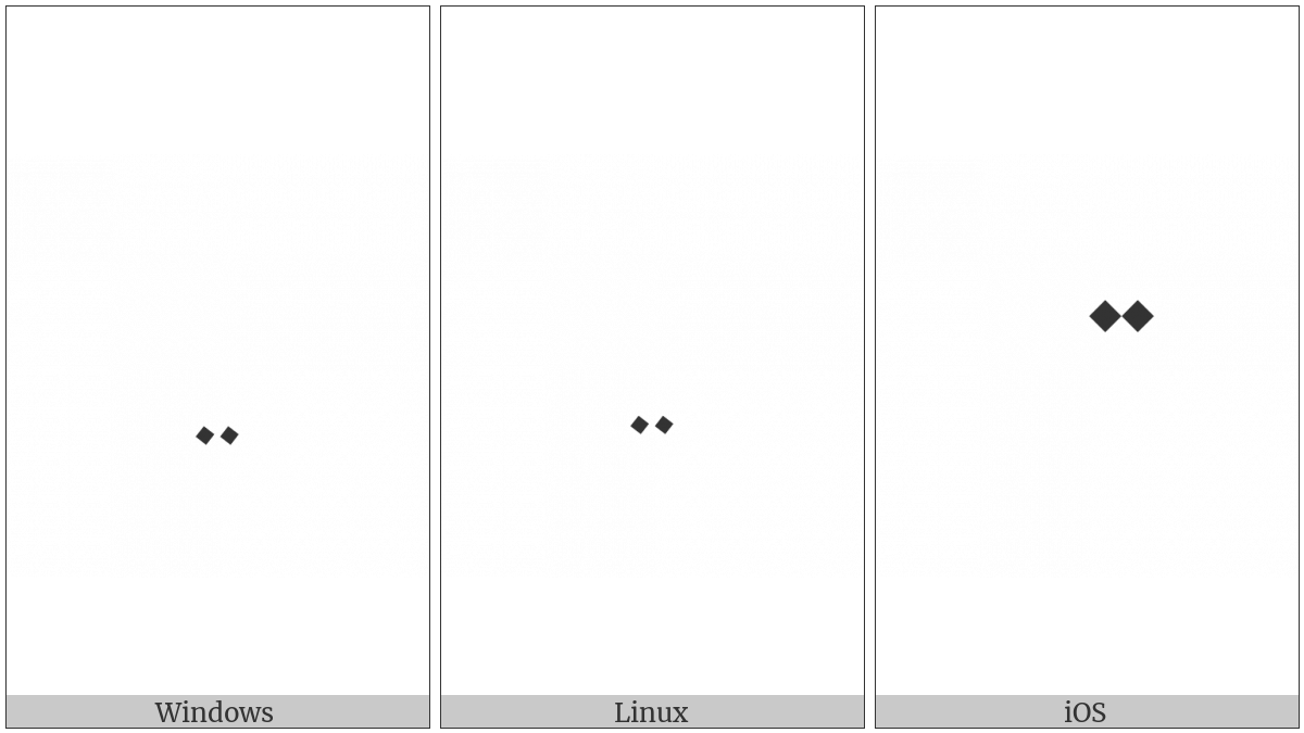Arabic Tone Two Dots Above on various operating systems