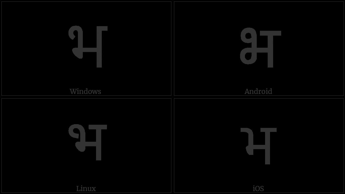 DEVANAGARI LETTER BHA utf-8 character