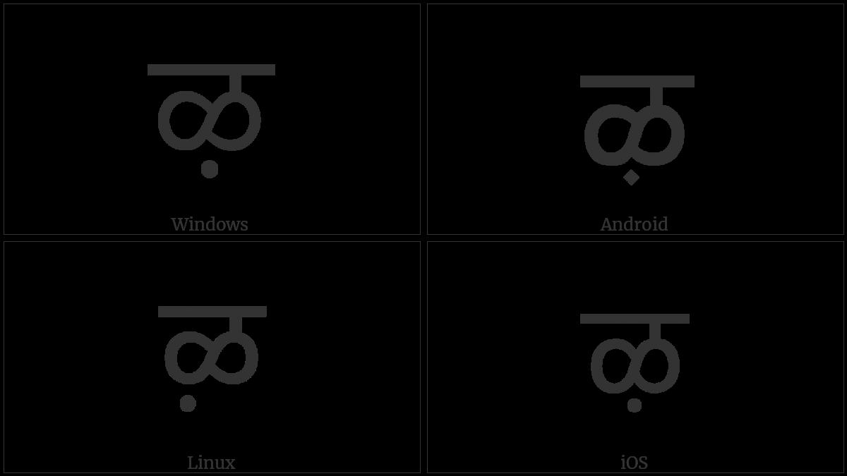 Devanagari Letter Llla on various operating systems