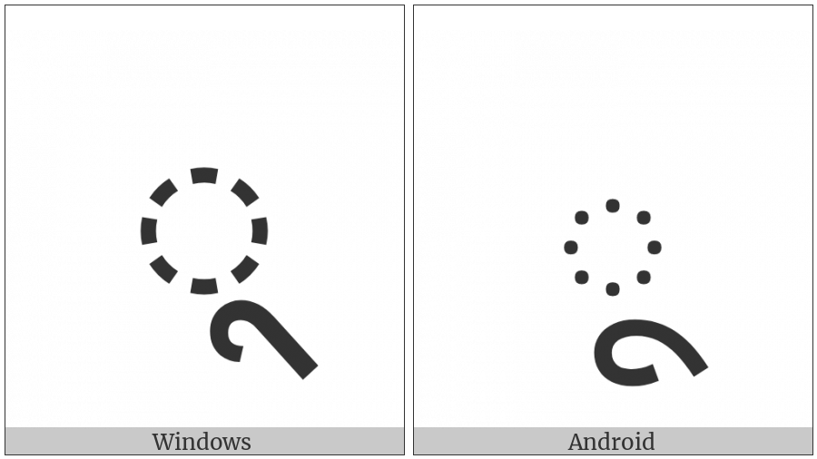 Devanagari Vowel Sign Uu on various operating systems
