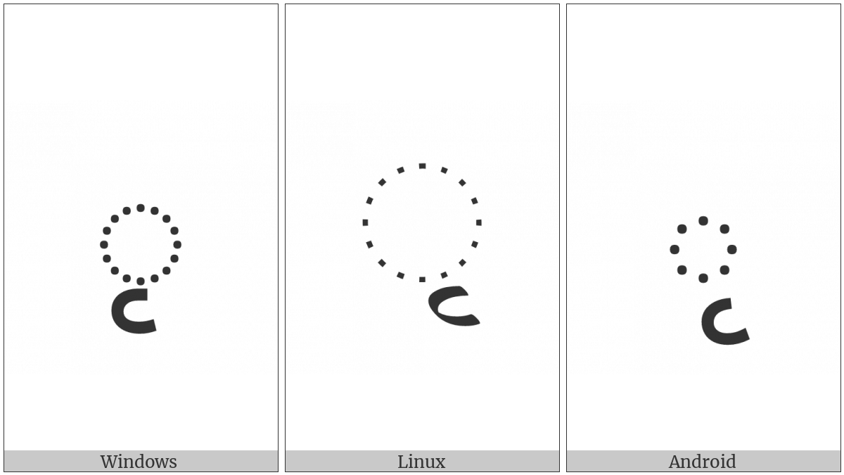 Devanagari Vowel Sign Vocalic R on various operating systems
