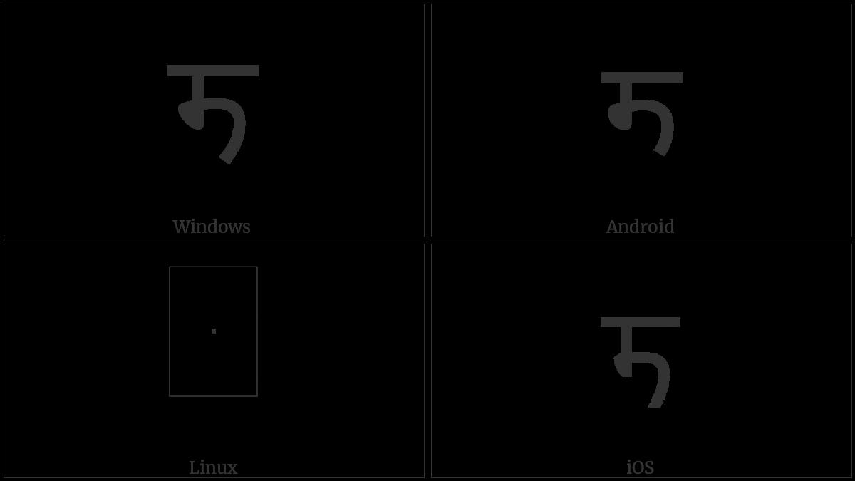 Devanagari Letter Marwari Dda on various operating systems