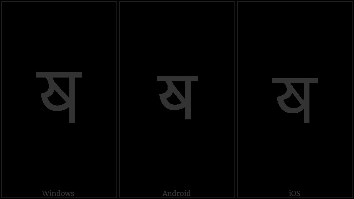 Devanagari Letter Heavy Ya on various operating systems