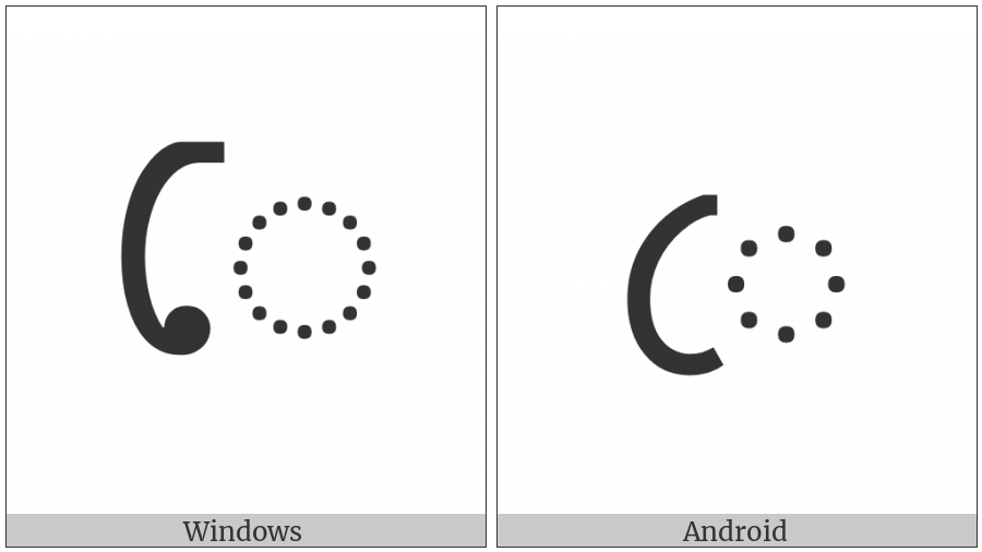Bengali Vowel Sign E on various operating systems