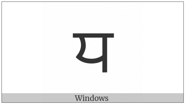 Gurmukhi Letter Dha on various operating systems