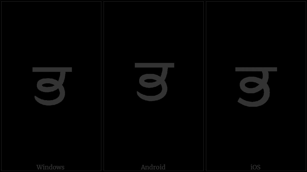 GURMUKHI LETTER BHA utf-8 character