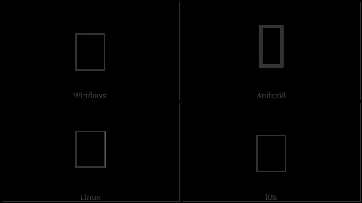 U+0A31 utf-8 character