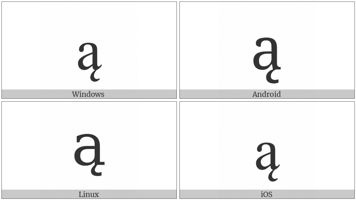 LATIN SMALL LETTER A WITH OGONEK utf-8 character