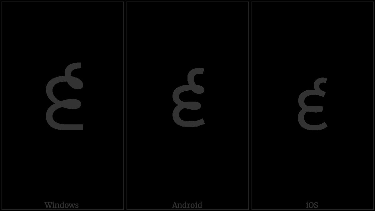 Gurmukhi Digit Six on various operating systems