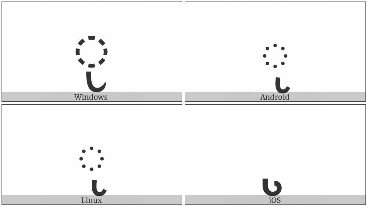 Gurmukhi Sign Yakash on various operating systems