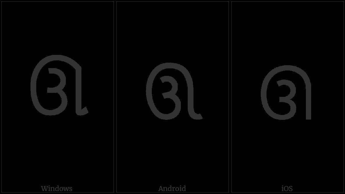GUJARATI LETTER UU utf-8 character