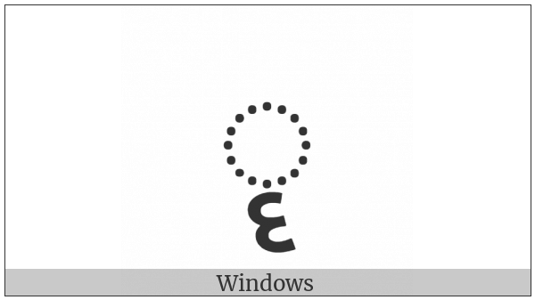 Gujarati Vowel Sign Vocalic Rr on various operating systems