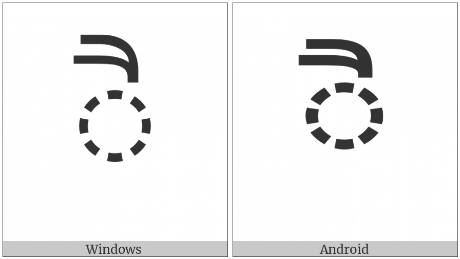Gujarati Vowel Sign Ai on various operating systems