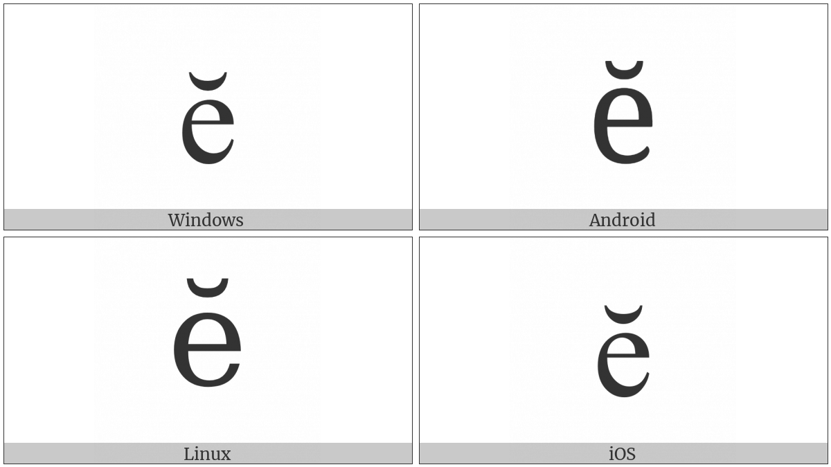 LATIN SMALL LETTER E WITH BREVE utf-8 character