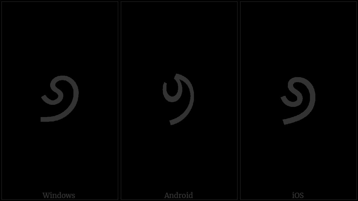 Oriya Digit Six on various operating systems