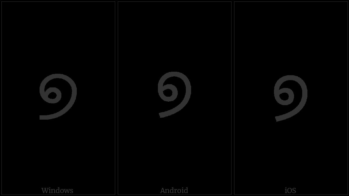 Oriya Digit Seven on various operating systems