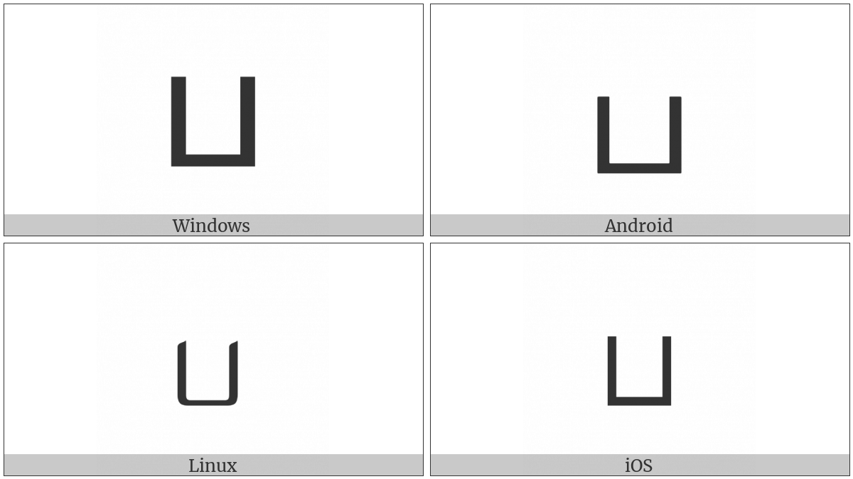Tamil Letter Pa on various operating systems