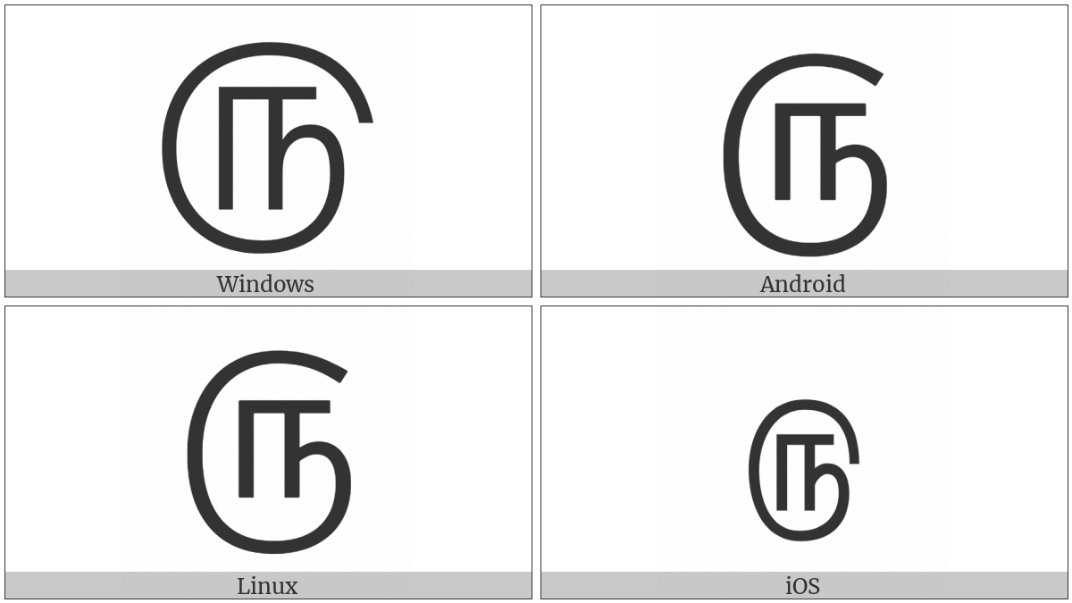Tamil Digit Five on various operating systems