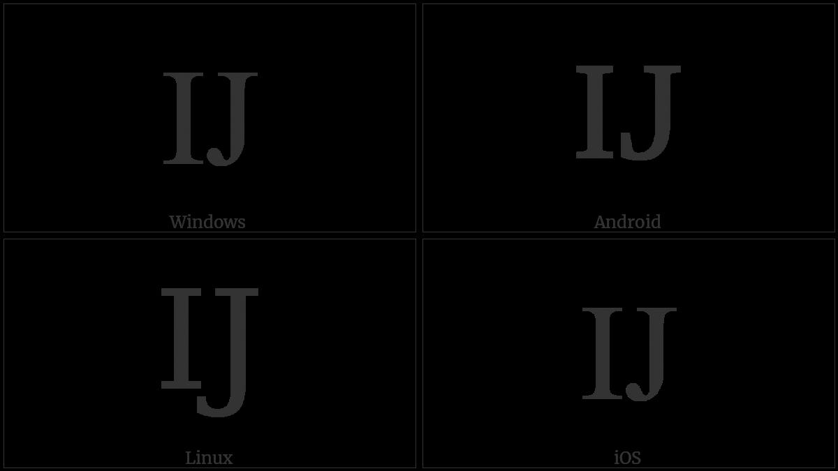 LATIN CAPITAL LIGATURE IJ utf-8 character